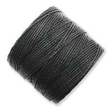 TWO Beadsmith Superlon Bead Cord for Beading/Macrame BLACK 154 Yards