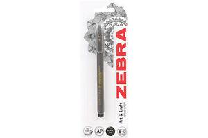 Zebra Brush Pen Fine Black