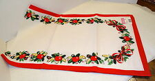 """Amrose HOLLY BERRY Table Runner...15"""" x 52""""...NWT...L@@K"""