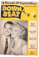 Vtg  September 10, 1952 DOWN BEAT (Marilyn Monroe Ray Anthony) Music MAGAZINE