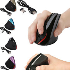 5D Wireless Ergonomic Vertical 2.4GHz Optical Mouse Mice 1600 DPI for PC Laptop
