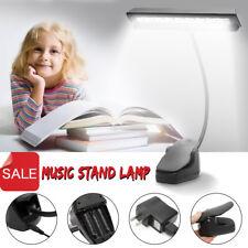 Portable Lightess 9 LED Clip-on Music Stand Book Light Desk Reading Lamp Black
