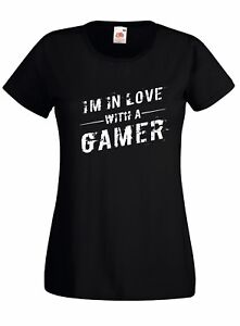 T-shirt Maglietta donna J2451 'm in Love With a Gamer Regalo Video Game