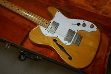 FENDER 1972 TELECASTER THINLINE, NATURAL PLAYERS CONDITION ORIG HARD SHELL CASE