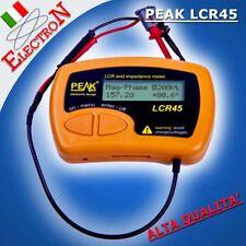 PEAK LCR45 Misura capacità resistenza impedenza LCR Tester Multimeter LCR40 upgr