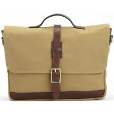 New KORCHMAR Z9232 Dawson Bag Waxed Cotton Leather Messenger Briefcase $315