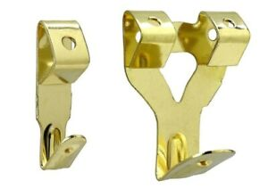 Gold Picture Wall Hooks Decorative Brass Single/Double Brass 1, 3, 10, 25,100