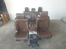 09-14 FORD F150  FRONT REAR SEAT CONSOLE  PLATINUM PECAN LEATHER POWER HEAT