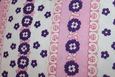70er 70s PRILBLUMEN Vintage BETTWÄSCHE Garnitur fabric STOFF Baumwolle cotton