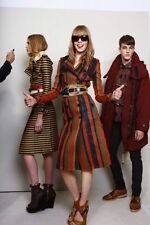BURBERRY PRORSUM  leather+suede Runway woven Military rare 46- M coats-trench
