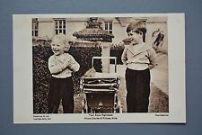 R&L Postcard: Princess Anne & Pince Charles as Young Children, Photochrom Unused