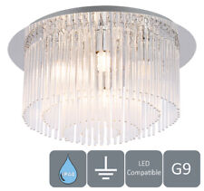 HARPER LIVING Modern Water Resistant (IP44), 6 Lights Semi-Flush Ceiling Light