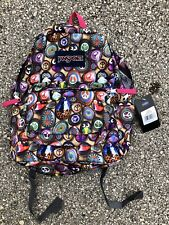 Jansport Superbreak Backpack Student Book Bag OWL HEARTS PEACE SIGN CATS