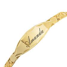 Personalised 9ct Real Gold Baby Expandable Bangle Christening Birthday Bracelet