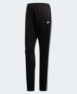 Adidas Training Pants Womens Small New Black Classic Essential 3 Stripes 32 Inch