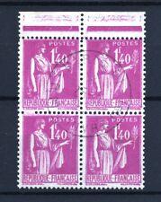 """FRANCE TIMBRE STAMP N° 371 """" TYPE PAIX 1F40 BLOC DE 4 """" OBLITERE TB T023"""