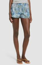 $199 Hudson Women's Blue Siouxsie Floral Print Mid-Rise Casual Shorts Size XS