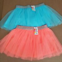 Garanimals Infant Girl 18 Months Lot of 2 Coral Turquoise Tutu Skort Skirts NEW