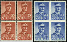 Norway  Scott #358 - #359 Blocks of 4  Complete Set of 2 Mint Never Hinged