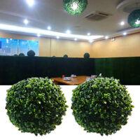 Chic Artifical Plastic Green Grass Ball 12-30cm Plant Hanging Garland Home Decor