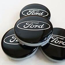 4pcs Ford 54mm Alloy Wheel Center Hub Caps Cover for Focus Fiesta Mondeo Black