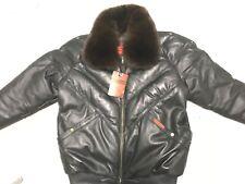 Leather Double FAT Goose Jacket V-Bomber