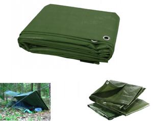 Green Heavy Duty Tarp Cover 17 SIZES Waterproof Caravan Camping Ground Sheet
