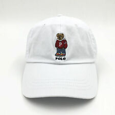Polo Pony Hats Red Embroidery Teddy Bear Hat Baseball Golf Caps Leisure Unisex