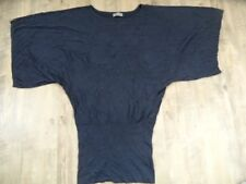 VOYELLES leichter Fledermauspullover blau EG TOP ZC1017