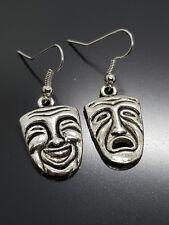Comedy Tragedy Earrings Theatre Greek Drama Happy Sad Actor Thespian Earrings