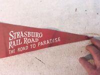 VINTAGE COLLECTOR PENDANT flag STRASBURG RAIL ROAD , Road to Paradise
