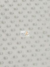 """DIMPLE DOT MINKY FABRIC - Grey - 60"""" SEW-SOFT BABY FABRIC RAISED CHENILLE"""