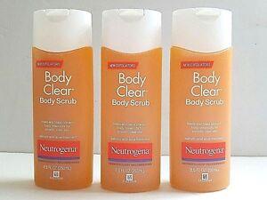 3 X Neutrogena Body Clear Body Scrub ( 8.5 oz each )