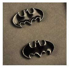 BATMAN Logo Nero Smalto Gemelli Matrimonio Sposo Migliore Uomo Camicia Gemelli