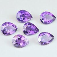 Wholesale Lot 6x4mm to 14x10mm Pear Facet African Amethyst Loose Calibrated Gems