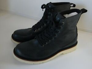 Mens Timberland Abington black leather black canvas size 9.5M vibram sole
