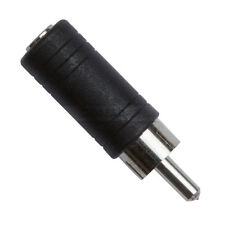 Zxtech 2 Pack of Mini Juck Socket to Single Phono Socket Adaptors