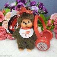 Monchhichi Disc Jockey MCC DJ Plush with Headset Mascot Keychain - Girl Doll