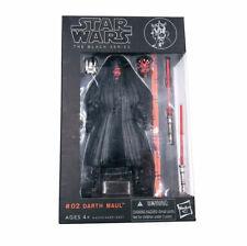 "Hasbro Star Wars Black Series 6"" #02 Darth Maul - New Boxed"