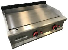 More details for commercial kitchen gas hotplate table top griddle heavy duty 80cm burger grill