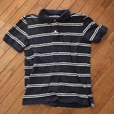 Gap ~ Boy's Navy Blue with White Stripes Polo Shirt ~ Large