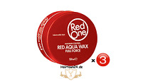 3x RedOne Gel Aqua Hair Wax Full Force Red Rot 150ml (100ml/2,42€)