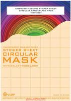 GALAXY Airbrush Masking Sticker Sheet Round Circular Camouflafe Mask φ2mm-φ6mm