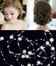New  Women Ladies Bridal Wedding Pearls Headband Pearls Accessories