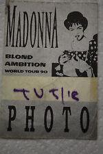 Madonna Blond Ambition World Tour 1990 Backstage Photo Pass