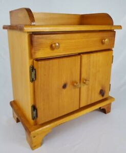 Vintage Dry Sink Style Nightstand End Table Cabinet Rustic Farmhouse Country