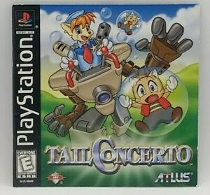 Tail Concerto (Sony PlayStation 1, 1999) PS1 INSTRUCTION BOOKLET w/ REGISTRATION