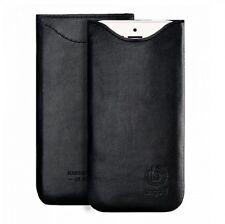 bugatti Tasche Leder Etui SlimFit Schwarz Apple iPhone 8 Plus 7 Plus 6s Plus