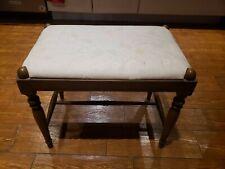 Antique Wood Upholstered Footstool John Wanamaker Dept. Store