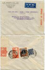 INDIA WW2 Censored J ADVANI Co Envelope 1939 TATA AIRMAIL.. ITALY + HOLLAND